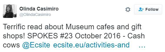 @OlindaCasimiro @Ecsite tweet about cash cows article