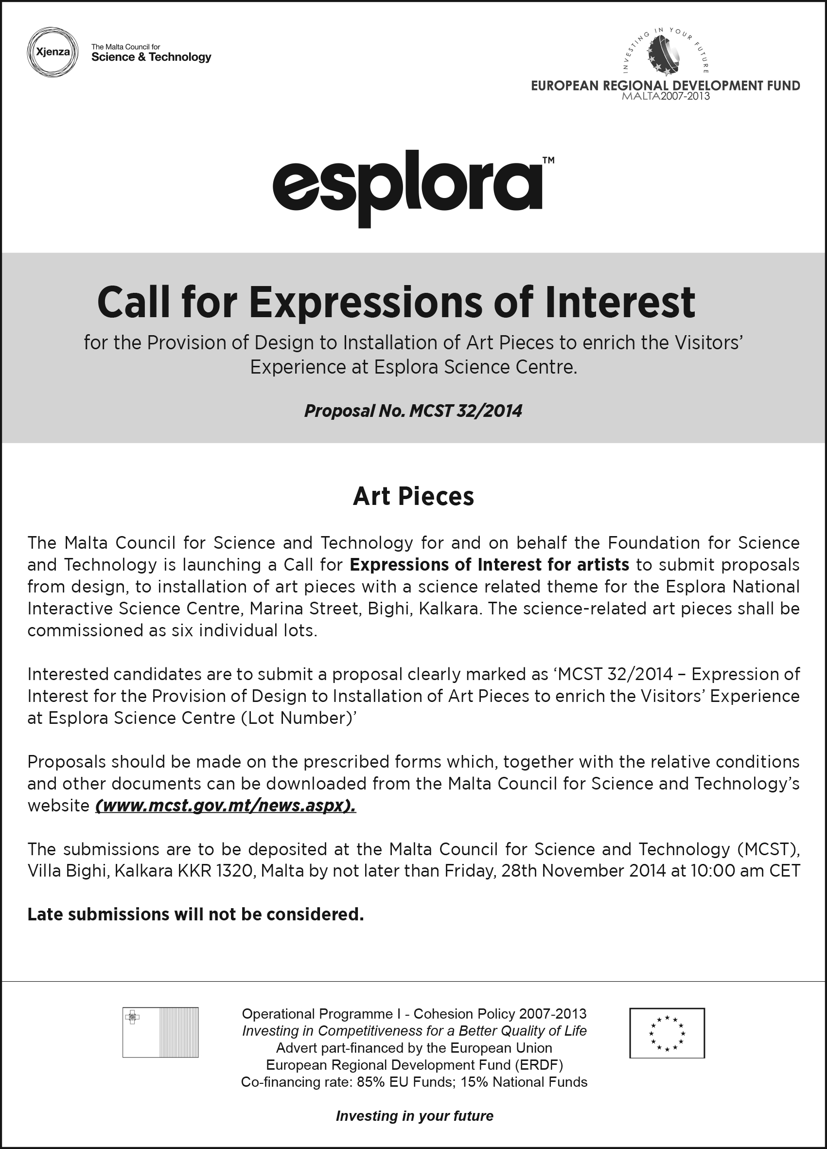Call for expressions of interest for the provision of design to call for expressions of interest for the provision of design to installation of art pieces to enrich the visitors experience at esplora science centre thecheapjerseys Gallery