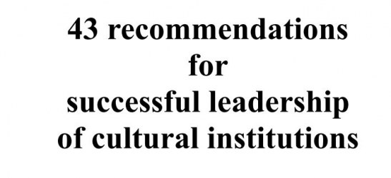 Leading cultural institutions by A. Hoeg