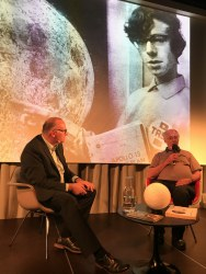 Guido Schwarz talks to TASA member Ruedi Fricker about the simulated Apollo mission he carried out with his colleagues in 1970.