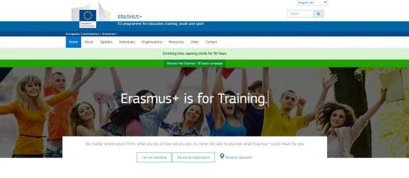 Homepage of the Erasums+ website. ec.europa.eu/programmes/erasmus-plus