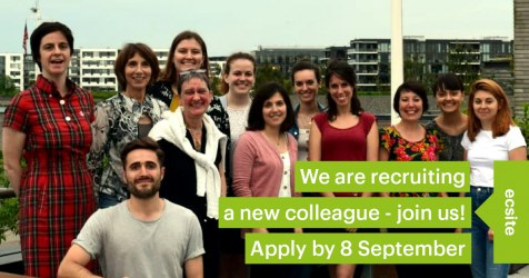 Ecsite is recruiting a Communications and Events Officer - join us! Apply by 8 September