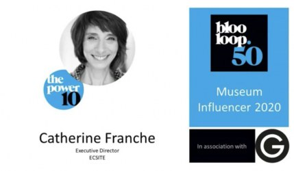 Catherine Franche on the top 10 of  Blooloop 's Museum Influencer list
