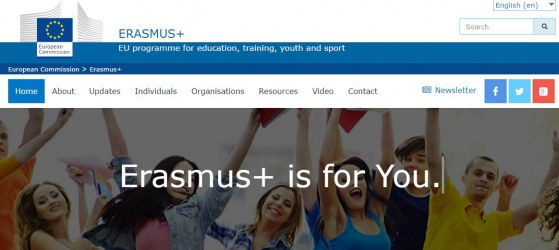 Erasmus + homepage https://ec.europa.eu/programmes/erasmus-plus/node_en