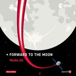 Cover page of ESA Moon Media Kit - copyright ESA 2019