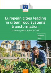 Cover page of the publication 'European cities leading in urban food systems transformation