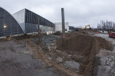 Laying the foundations of Heureka's new building - Photo by Jussi Helo