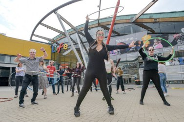 Life provided the public with free hula hooping lessons for the National Day of Play