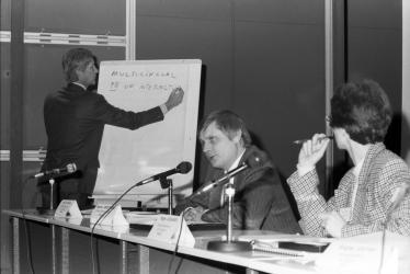 Founding meeting of Ecsite in Paris in 1989 at Cité des sciences / ® B Baudin