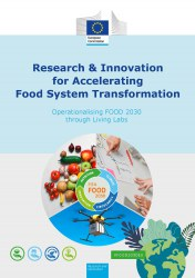 Cover page of the booklet 'Research and Innovation for Accelerating Food System Transformation'