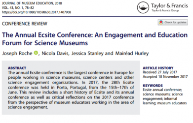 The Annual Ecsite Conference: An engagement and Education Forum for Science Museums