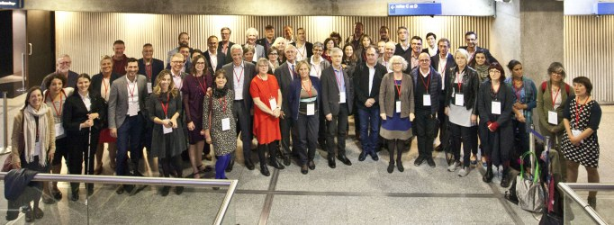 Group photo 2017 Ecsite Directors Forum, Cite des sciences et de l'industrie, Paris, France, 6 October 2017. ® N Breton EPPDCSI