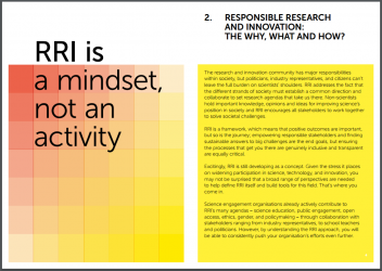 A glimpse of the RRI quick start guide from the RRI Tools project