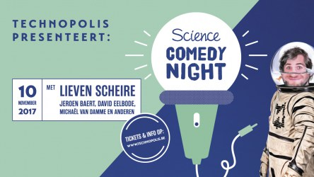 Science Comedy Night at Technopolis, Belgium - one of the actions developed by Ecsite members for 2017 International Science Centres and Science Museum Day