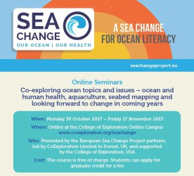 Flyer advertising the Sea Change Online Seminars