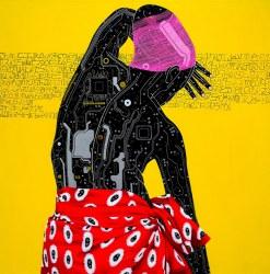 Circuit Board Paintings by Eddy Kamuanga Ilunga
