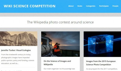 Screen grab: Wiki Science Competition website
