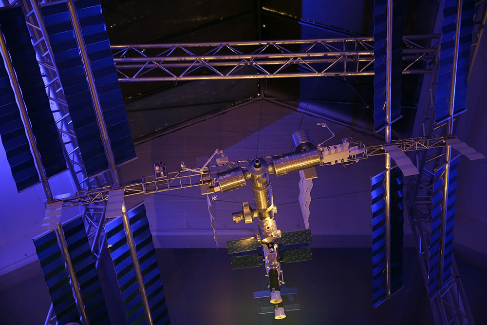 The model of the International Space Station. Photo courtesy of Innovatum Science Center