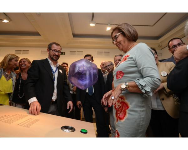 Ministery of Education of Andalusia Adelaida de la Calle opens 20th anniversary exhibition at Parque de las Ciencias