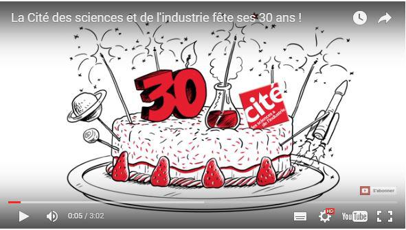 Cité des sciences 30th birthday trailer
