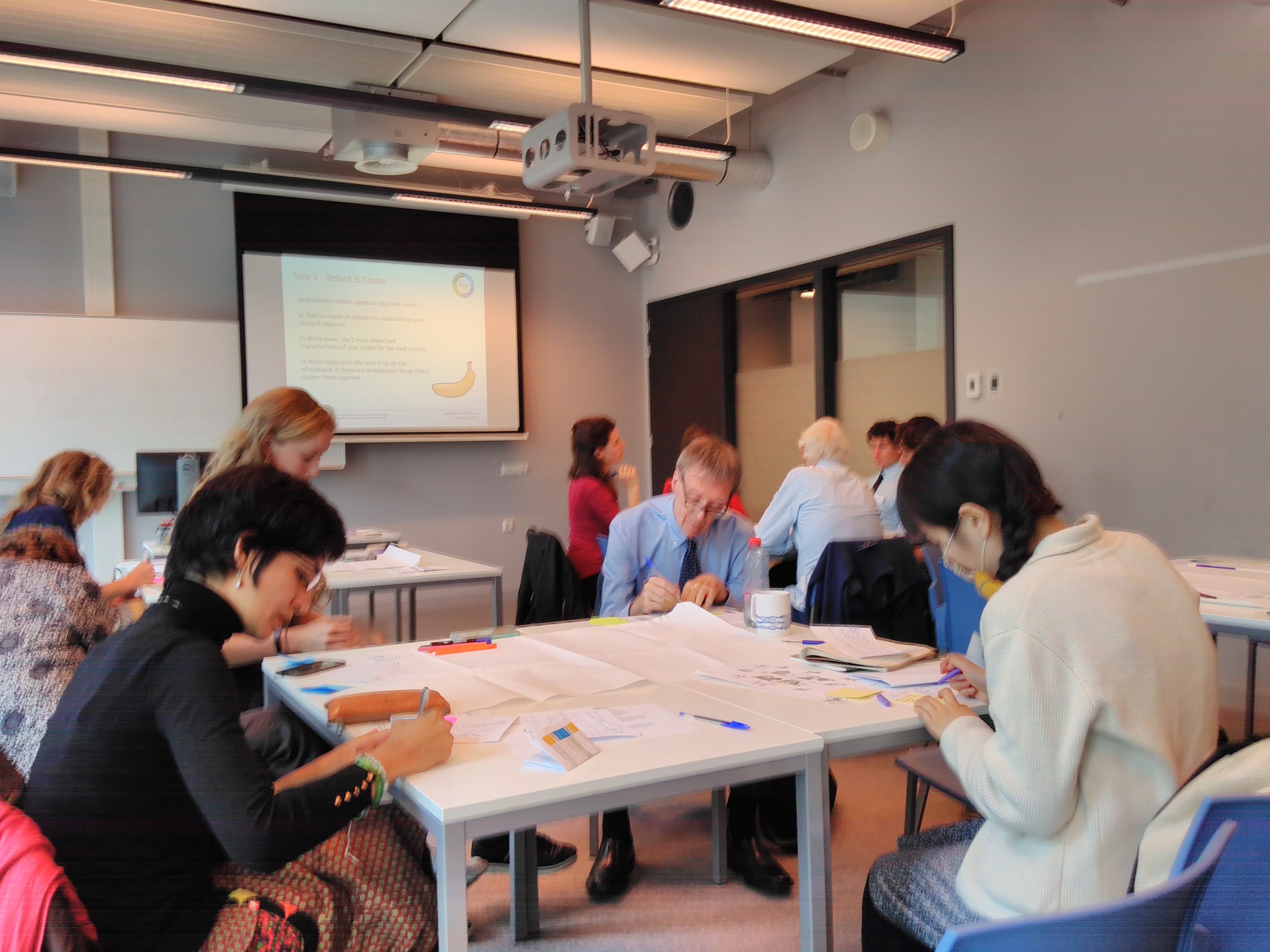 Participants at the City Lab Amsterdam visioning workshop, June 2018