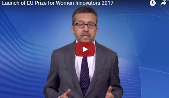 The European Commissioner Moedas launches 2017 EU Prize for Women Innovators.