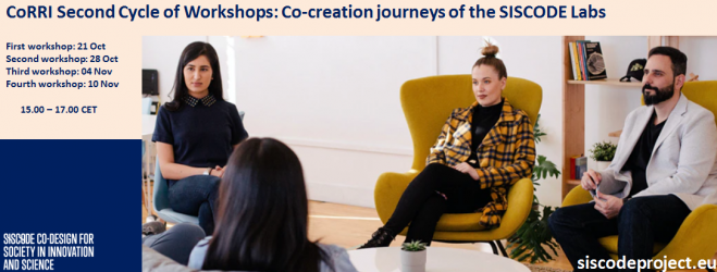The second cycle of CoRRI workshops will begin on 21 October