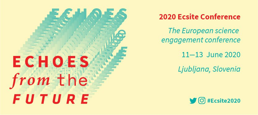 Banner of the 2020 Ecsite Conference, in Ljubljana, Slovenia