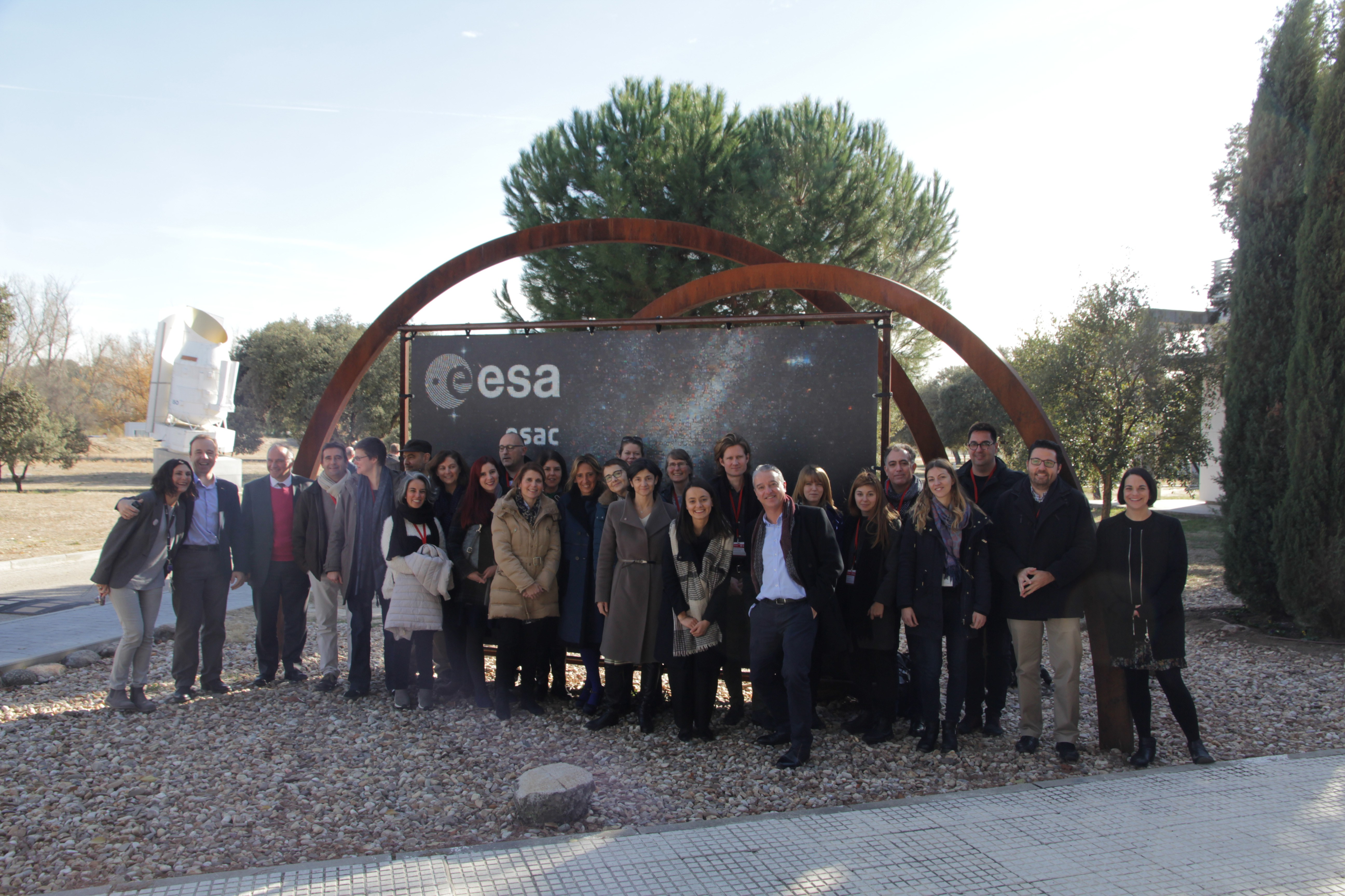 Participants at the Ecsite Space Group Annual Meeting, 27 November 2017, ESA/ESAC, Spain