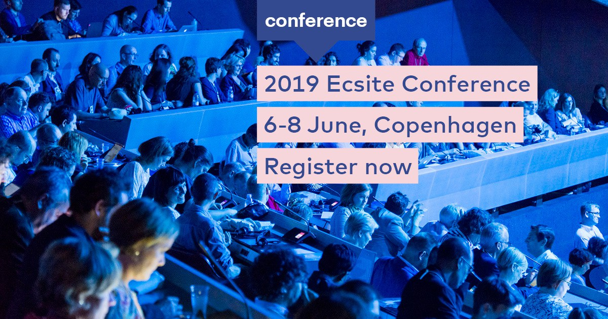 Join 1,100+ scicomm professionals at #Ecsite2019