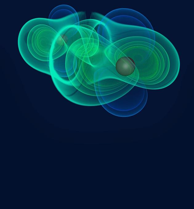 Gravitational waves. Image credit: MPI/Gravitational Physics/ITP Frankfurt/ZI Berlin