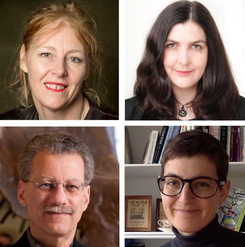 2017 Mariano Gago Ecsite Awards: Jury members. Sharon Ament, Honor Harger, David Harvey, Sarah R. Davies