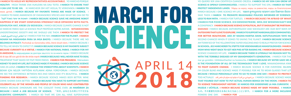 March for Science 2018 Banner