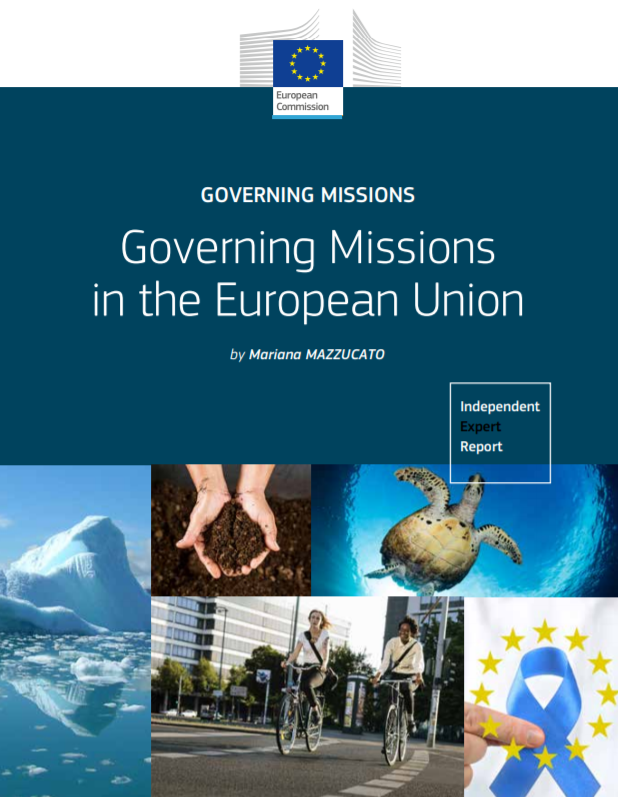 Prof. Mariana Mazzucato report on HEU Missions. Credit: EU Commission