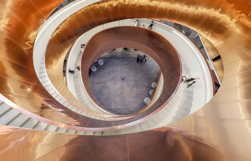 Experimentarium's iconic Helix Staircase. © Adam Mørk, Experimentarium