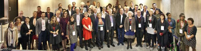 Group photo at last year's Ecsite Directors Forum - will you be there this year? Cite des sciences et de l'industrie, Paris, France, 6 October 2017. ® N Breton EPPDCSI