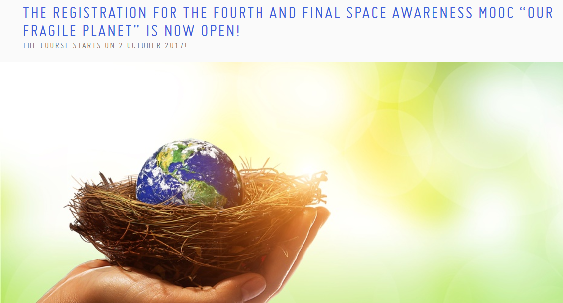 "Space awarness MOOC ""Our Fragile Planet"""