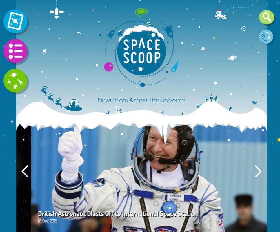 Space scoop website