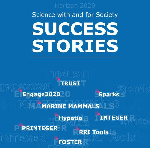 Booklet cover: Success stories from Science with and for Society