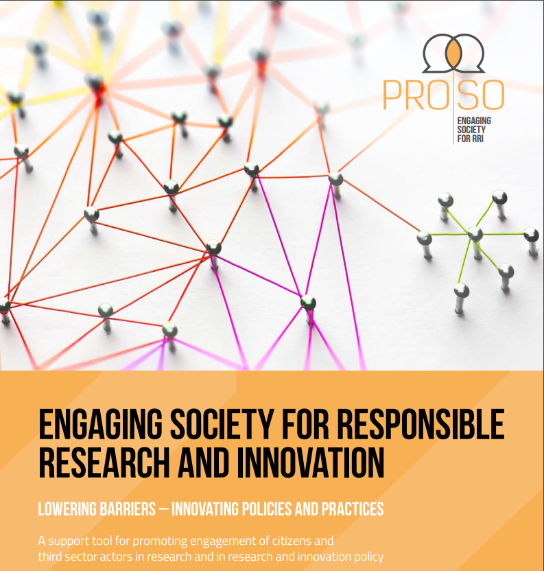 PROSO Toolkit on Engaging society for RRI cover