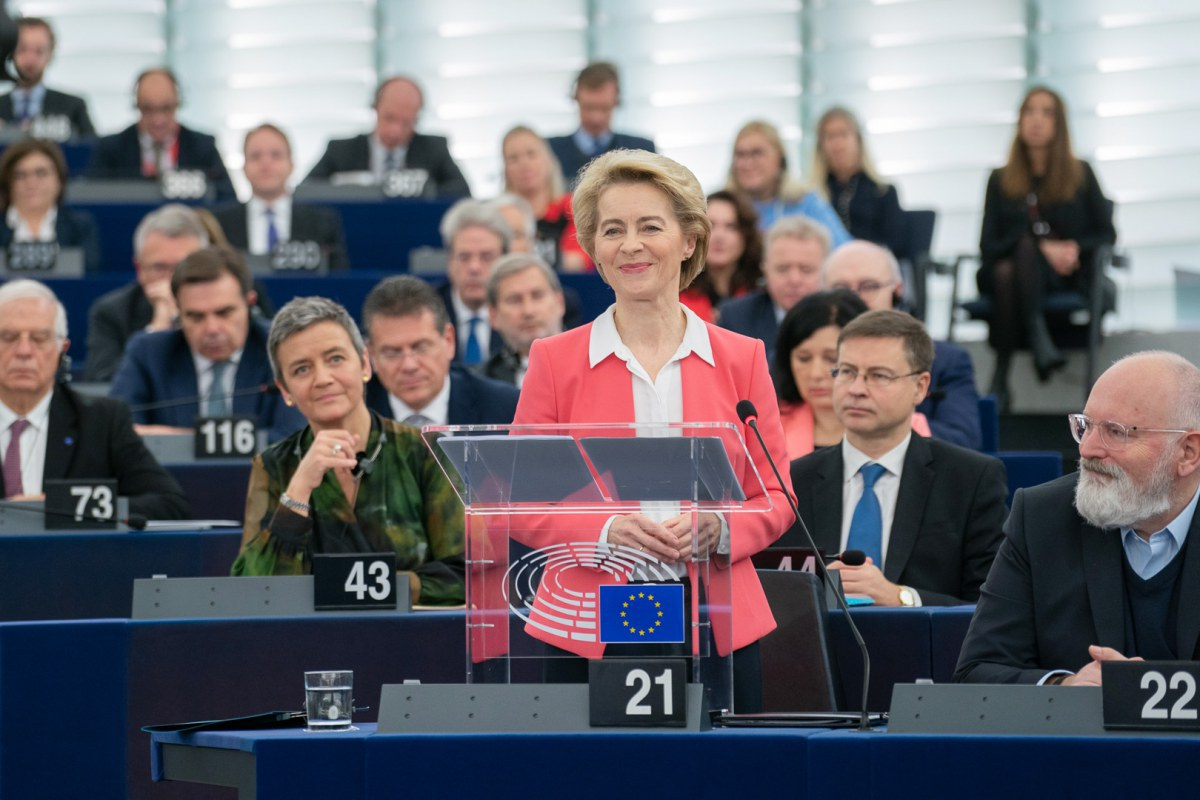President-elect von der Leyen at the Parliament ©EU 2019 - EP