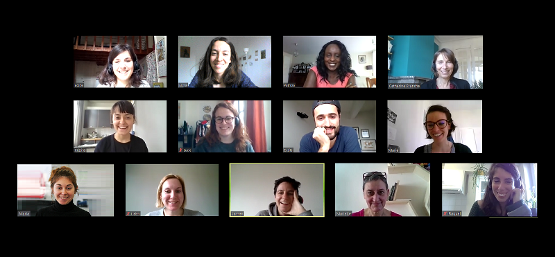 One of our Ecsite virtual team meetings