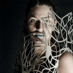 Laser cut dress made at MUSE (Trento, Italy) as part of the KiiCS project, 2014