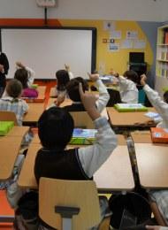 Joana Lobo Antunes engaging school kids in science sessions