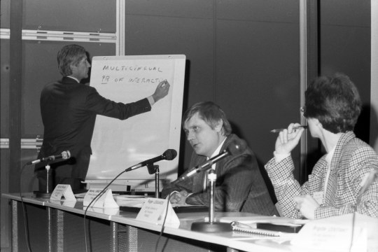 Ecsite's founding meeting, 9 January 1989