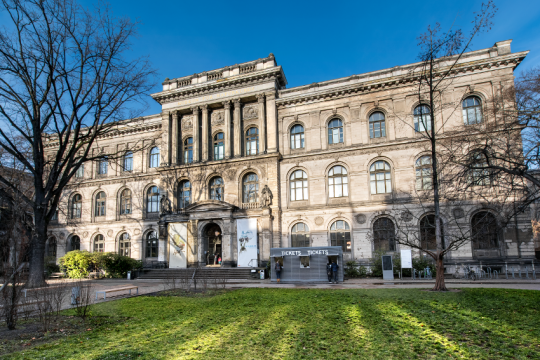 The Museum für Naturkunde, originally founded in 1810 as part of the Berlin University.