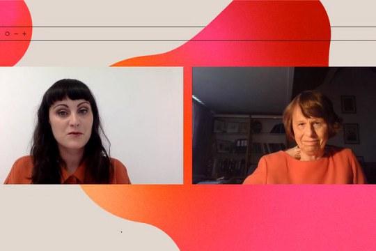 Mairéad Hurley talks to keynote Ewine van Dishoeck