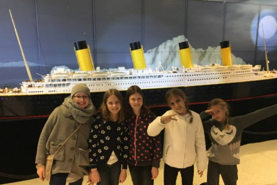 Travelling Bricks made of LEGO bricks Titanic