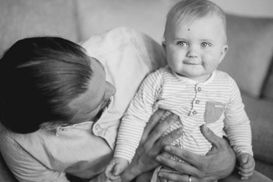 Daniel with his son, Love.