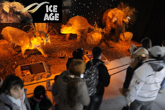 Ice Age animatronic exhibition
